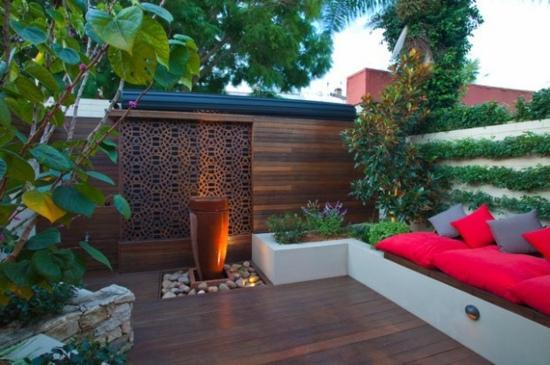 terrasse amenagee jardin