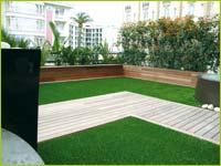 terrasse avec gazon synthetique
