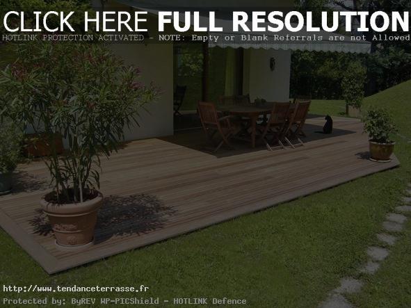 terrasse avec jardin