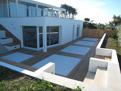 terrasse beton bois