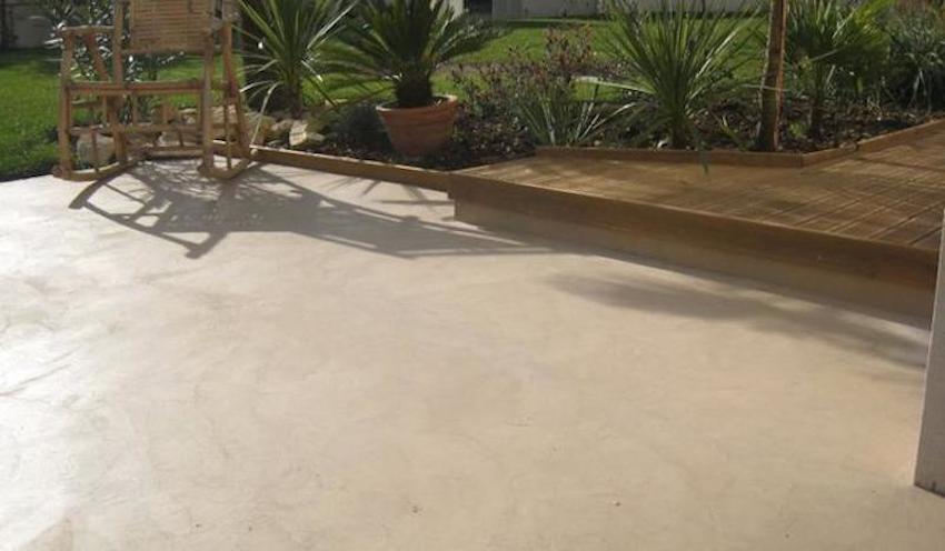 Terrasse beton cire