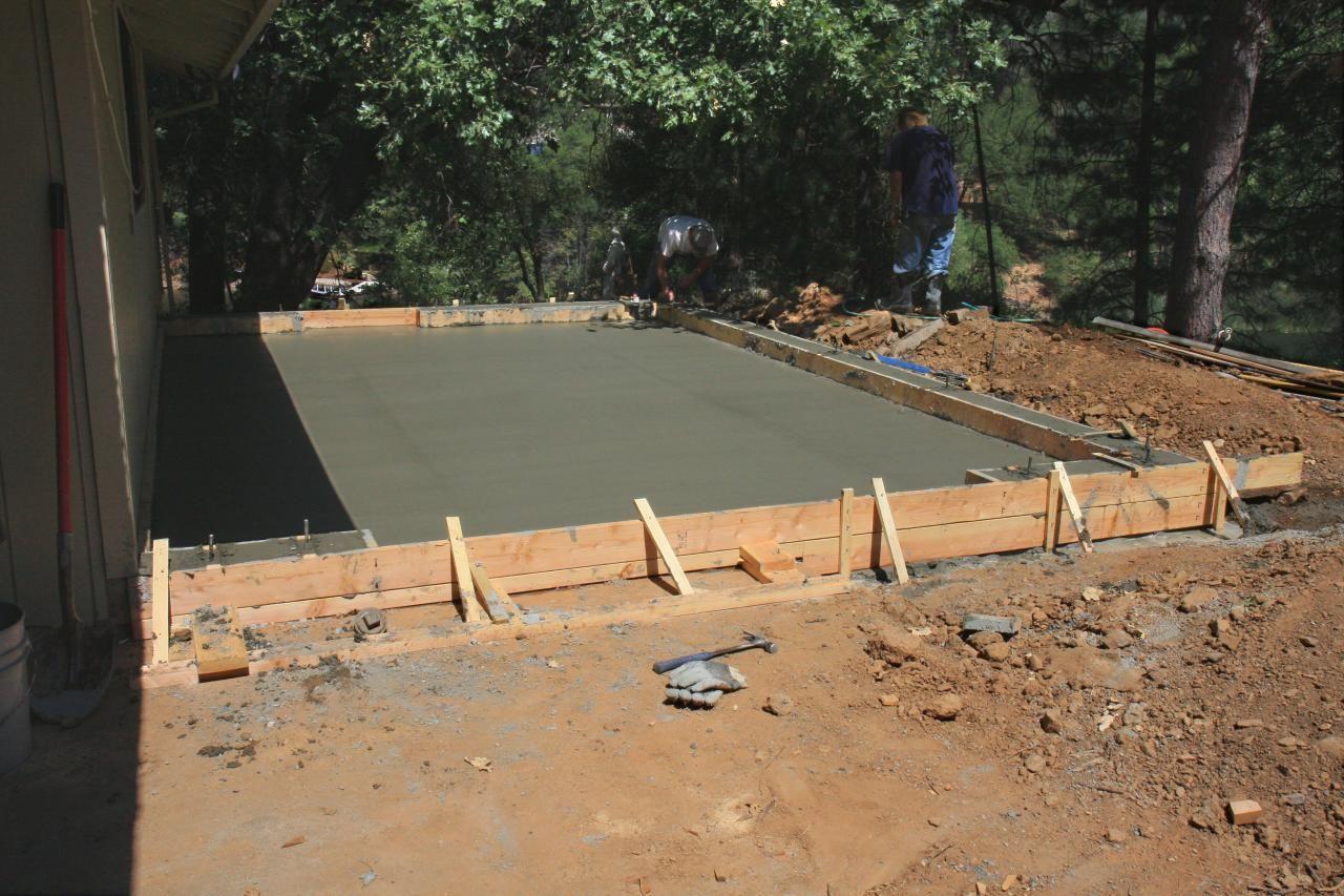terrasse beton coule