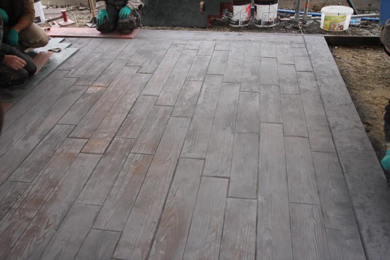 terrasse beton empreinte