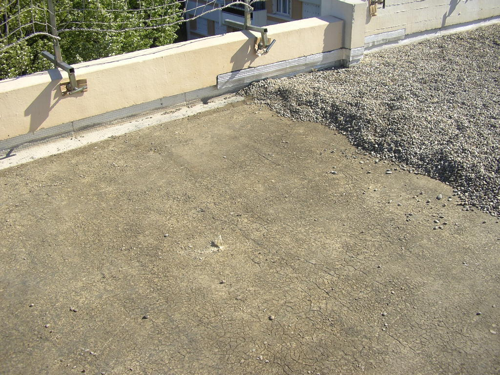 terrasse beton gravillon