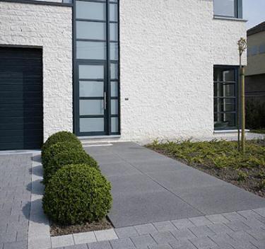 terrasse beton noir