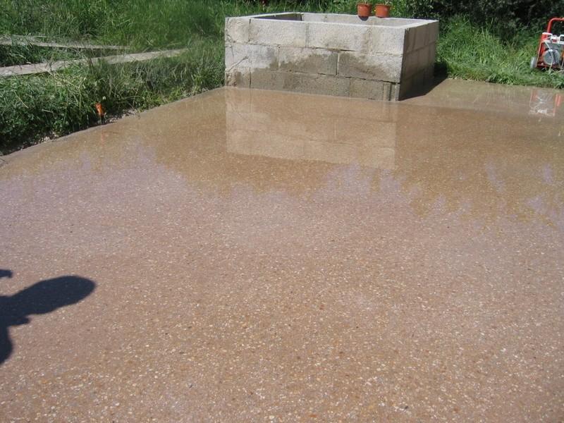 terrasse beton poli