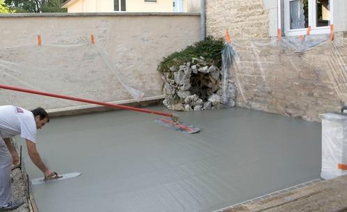 Terrasse beton revetement