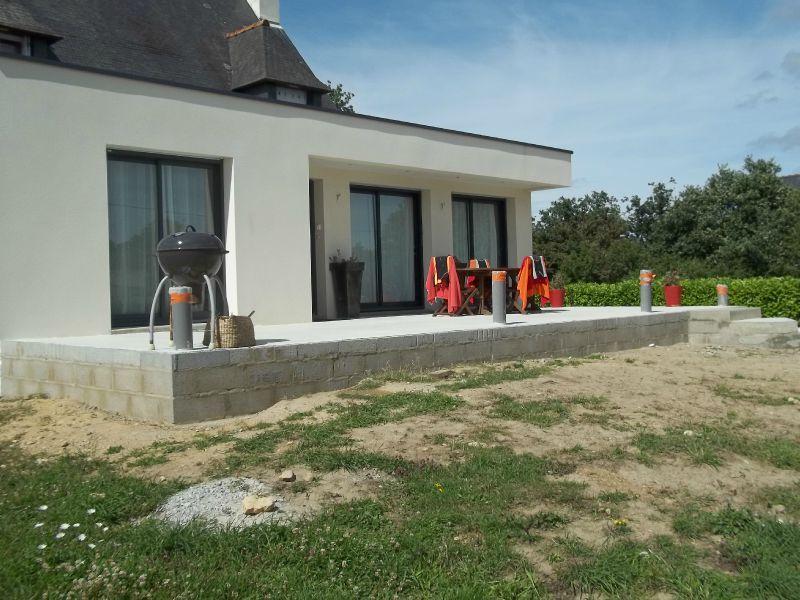 Terrasse beton surelevee
