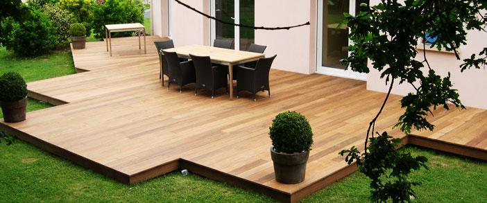 Terrasse bois composite design