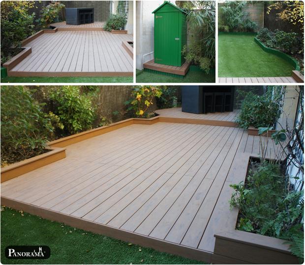 terrasse bois composite jardin