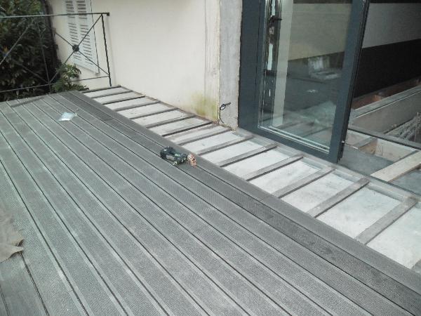 Terrasse bois composite ou beton