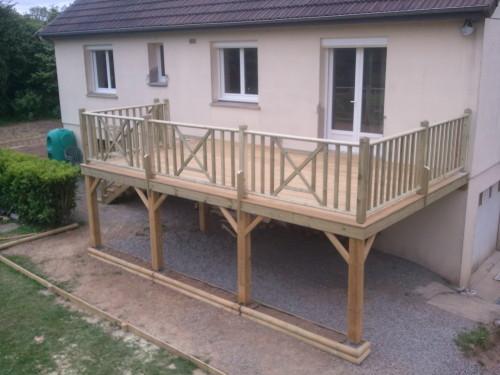 terrasse bois composite pilotis