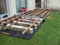 Terrasse bois composite pose