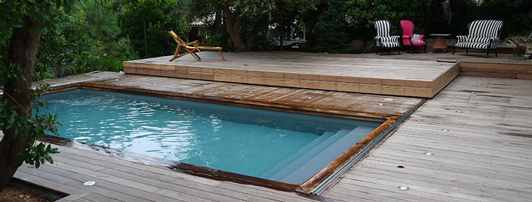 terrasse bois couvre piscine