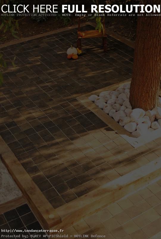 terrasse bois debout