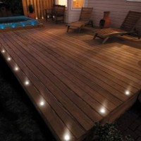 terrasse bois led