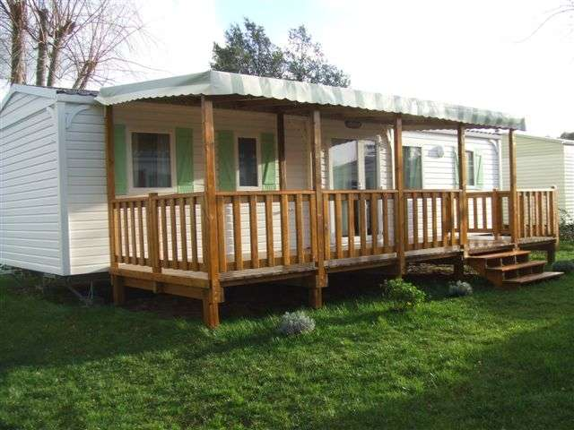 Terrasse bois occasion pour mobil-home