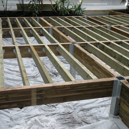 Terrasse bois ossature