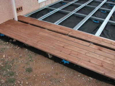Terrasse bois ossature metallique