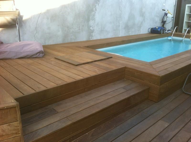 Terrasse bois piscine pas cher
