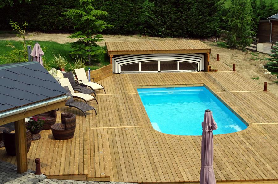 terrasse bois piscine pose