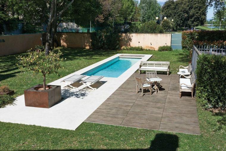 terrasse bois piscine sel
