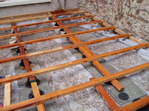 terrasse bois sans dalle beton