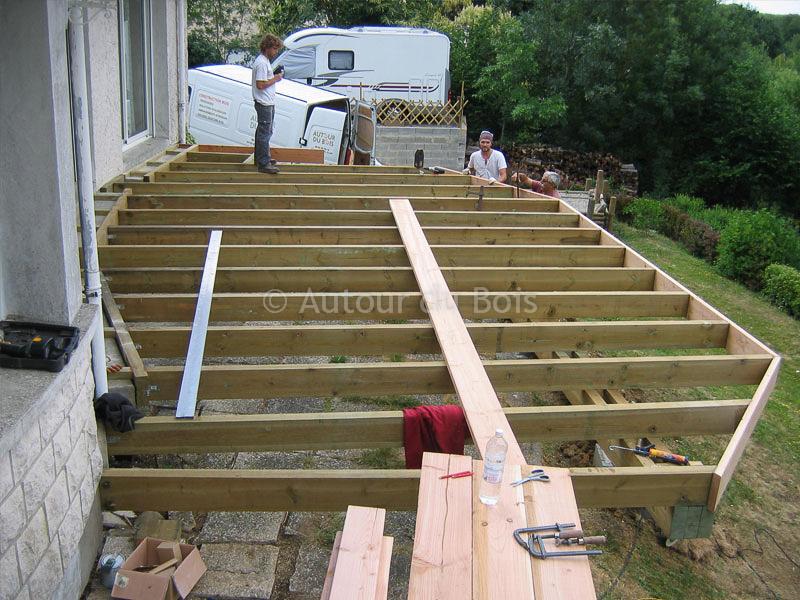 Terrasse bois suspendue plan