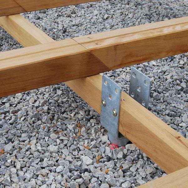 terrasse bois vis de fondation