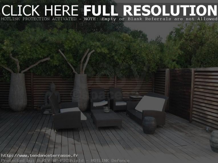 terrasse bois zen