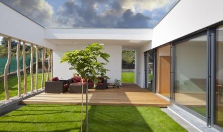 terrasse carrelage bois