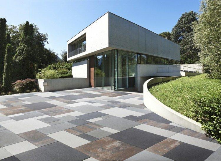 terrasse carrelage design
