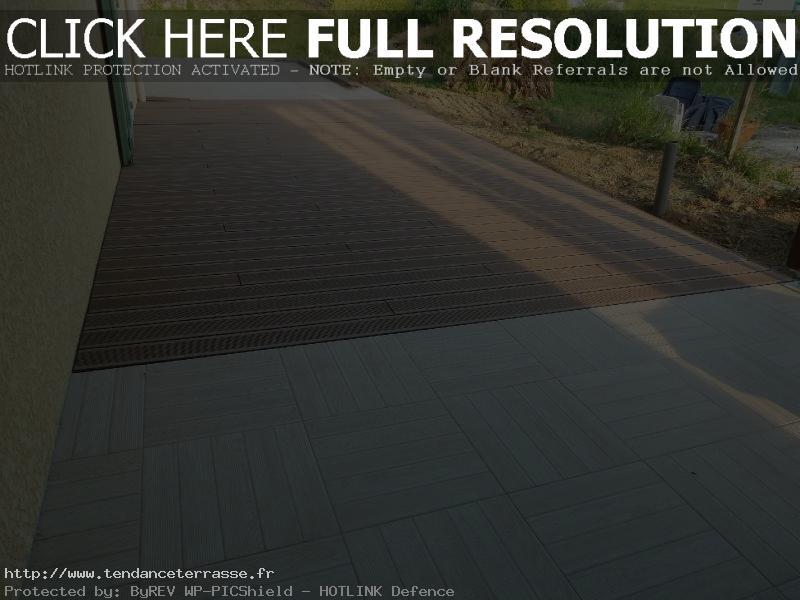 Terrasse carrelage et composite