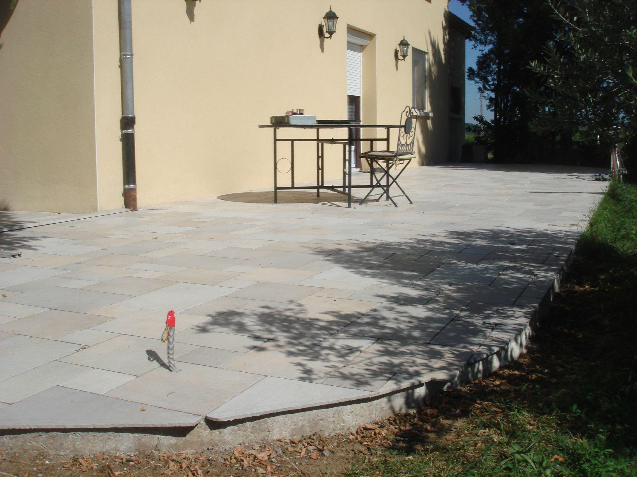 terrasse carrelage ou beton
