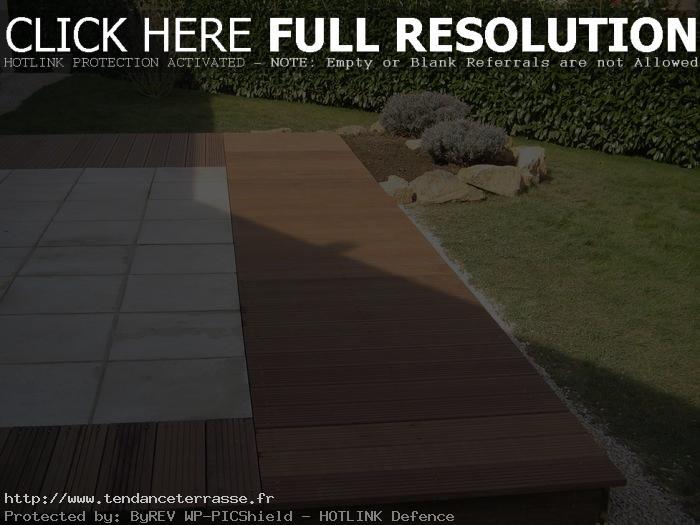 terrasse carrelage ou bois