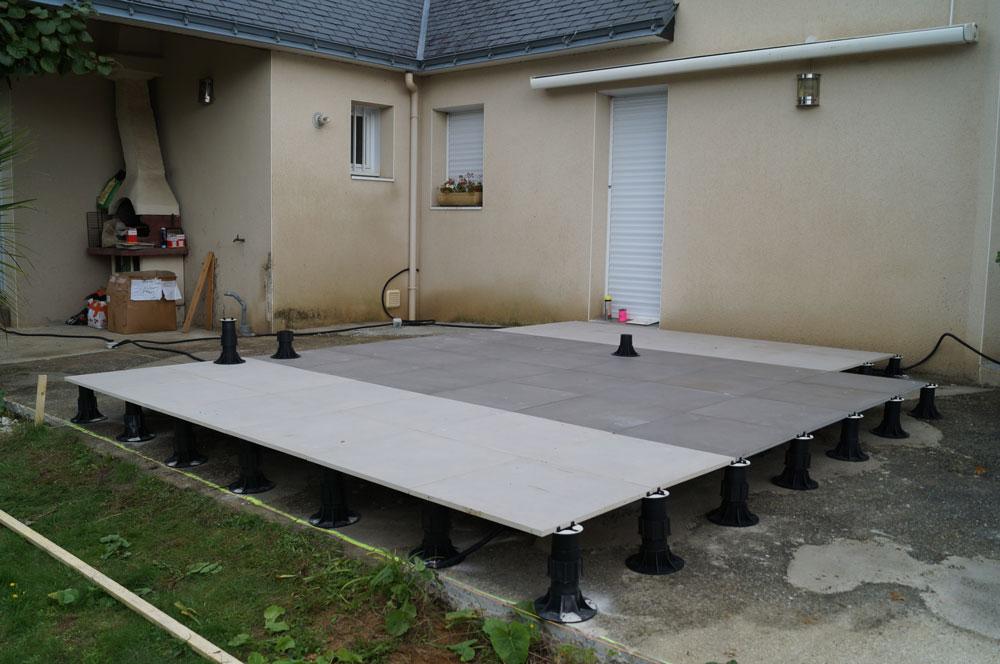 terrasse carrelage sur dalle beton