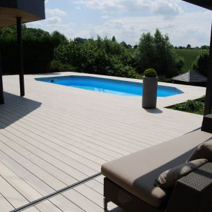 terrasse composite blanc