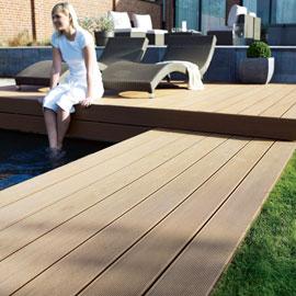 terrasse composite couleur teck