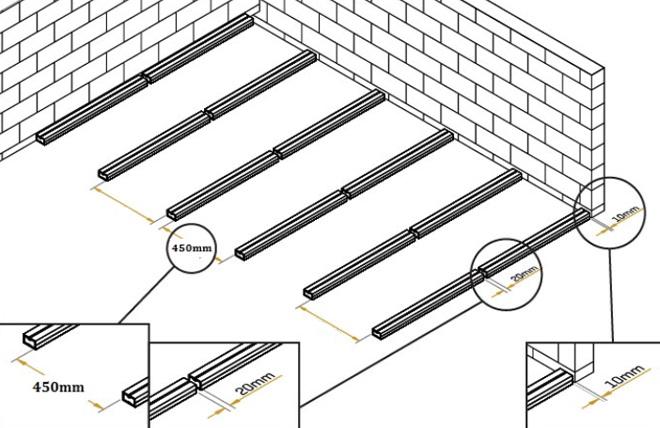 Terrasse composite espacement lambourdes