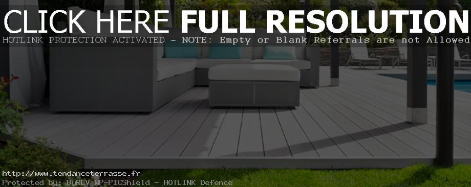 terrasse composite gris clair