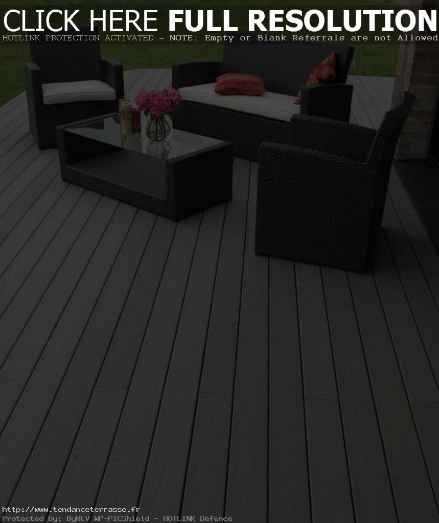 terrasse composite rayure