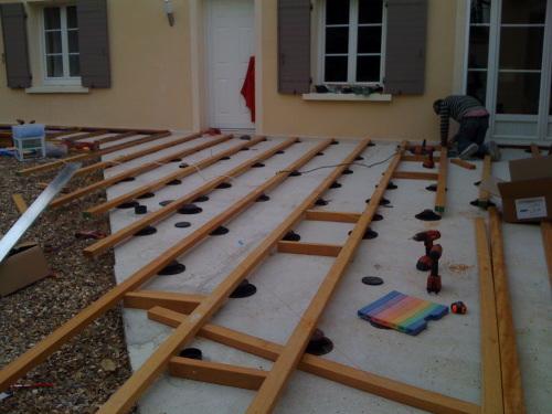 terrasse composite sans dalle beton