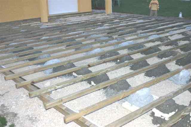 terrasse composite sur beton