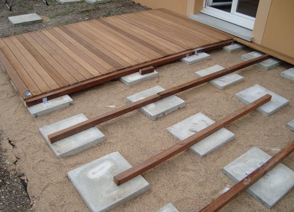 Terrasse composite sur lambourde bois