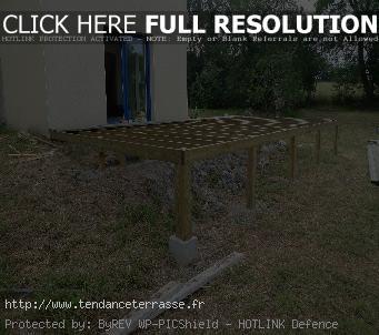Terrasse composite sur pilotis