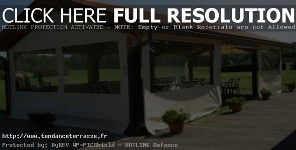 terrasse couverte bache