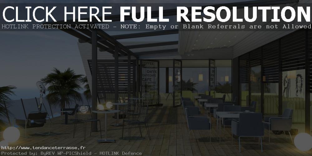 terrasse couverte bar
