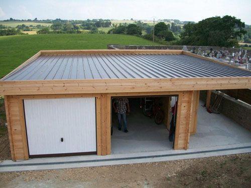 Terrasse couverte en bac acier