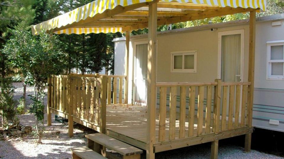 Terrasse couverte mobil home occasion