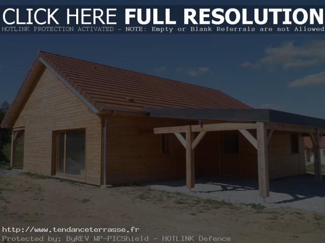 Terrasse couverte ossature bois